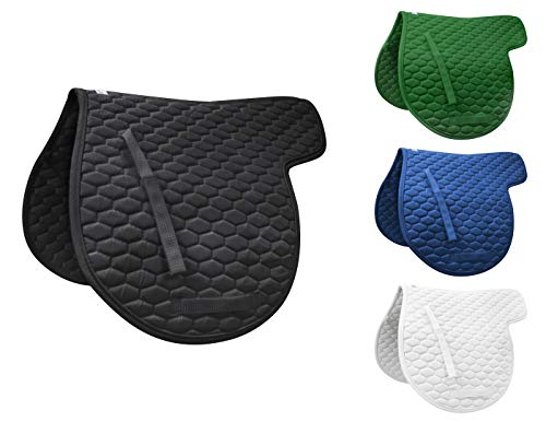 Derby Originals English All Purpose Quilted Contour Saddle Pad, Black