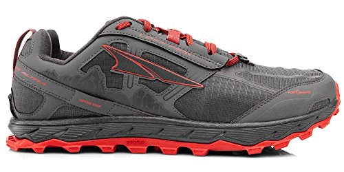 ALTRA Men's AFM1855F Lone Peak 4.0 Trail Running Shoe, Gray/Orange - 11 D(M) US