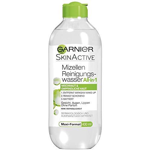 Garnier Mizellen Reinigungswasser / Gesichtsreinigung für Mischhaut und empfindliche Haut (Optimale Verträglichkeit - ohne Parfüm) 6 x 400 ml