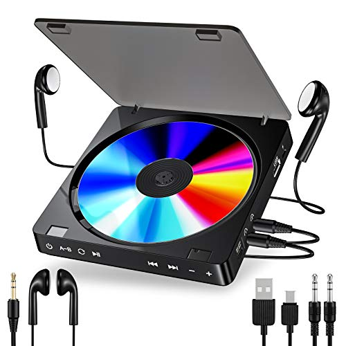 Gueray Portable CD Player with 1200mAh Rechargeable Battery Personal CD...