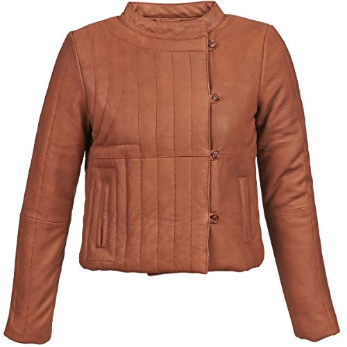 Antik Batik YOANN Jacken Femmes Cognac - 36 EU - Lederjacken/Kunstlederjacken