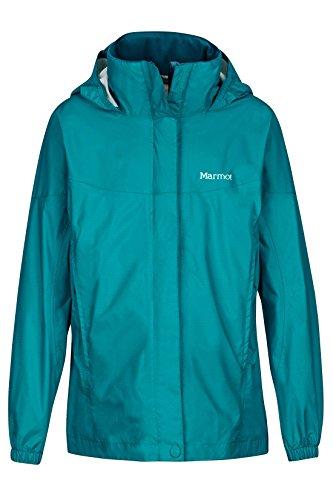 Marmot Girls' PreCip Lightweight Waterproof Rain Jacket, Deep Lake, Large