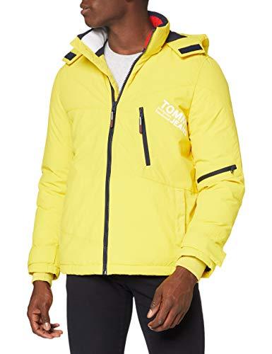 Tommy Jeans TJM Solid Graphic Jacket Chaqueta, Amarillo valle, XL para Hombre