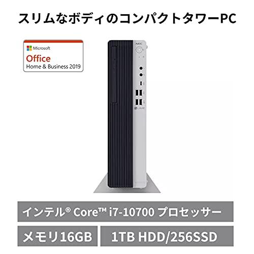 NECデスクトップパソコンLAVIEDirectDT国内生産(Corei7/16GBメモリ/256GBSSD+1TBHDD/ミストホワイト)(OfficeHome&Business2019・1年保証)(Windows10Home)WEB限定モデル