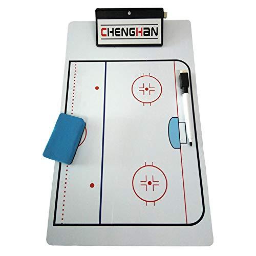Tablero táctico de hockey sobre hielo,equipo de entrenamiento de hockey sobre hielo regrabable adecuado para el diseño táctico de los juegos de entrenamiento de hockey sobre hielo material de PVC