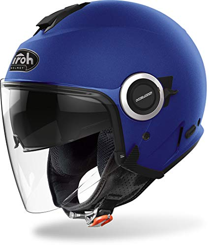 AIROH Helios HE19 Casco Moto, Blu (Blue Matt), XL