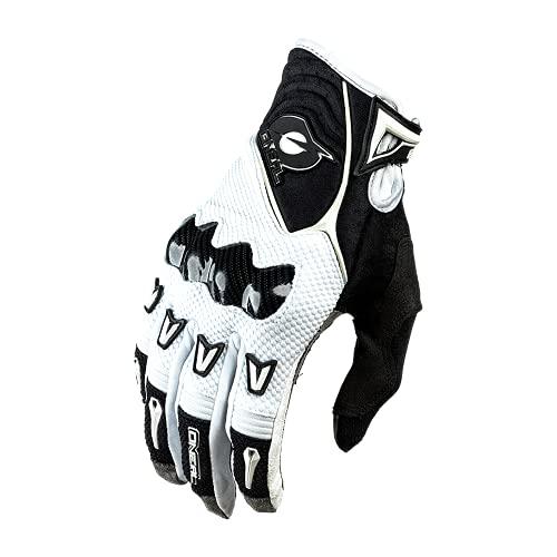 O'NEAL   Guantes de Ciclismo y de Motocross   MX MTB Downhill Freeride   protección de los Nudillos de Carbono, Recubiertos de Silicona   Butch Guantes de Carbono   Adultos   Blanco Negro   Talla XL