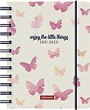 "BRUNNEN 1071855042 Schülerkalender 2021/2022 (18 Monate) ""Butterfly"" 2 Seiten = 1 Woche, Blattgröße 12 x 16 cm, A6, PP-Einband"