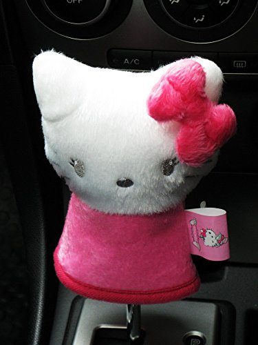Hello Kitty Manual or Round-head Car Gear Shift Knob Cover White