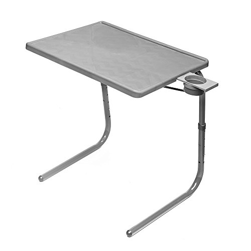 Table Mate II Folding TV Tray Table and Cup Holder with 6 Height and 3 Angle Adjustments The Original TV Tray (Slate Grey)