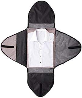 حقيبة تعبئة الملابس للسفر منظم ملابس السفر حقيبة الملابس الأمتعة التبعي الأسود