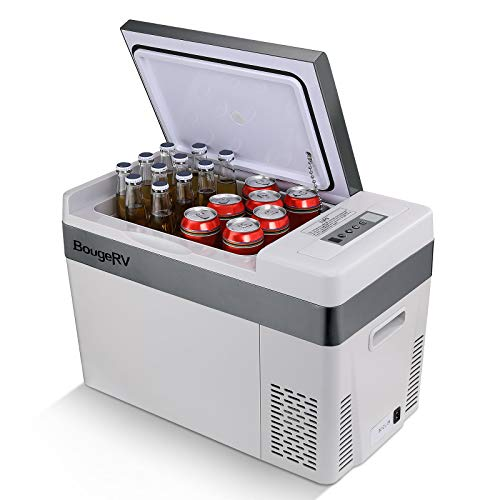 BougeRV Portable Car Freezer 12v Car Refrigerator Car Fridge 30 Quart Compressor Freezer,12/24V DC 110~240 Volt AC,-7℉~50℉ for Truck RV SUV