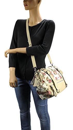Scarleton Front Zip Floral Shoulder Bag H176202 – Off White