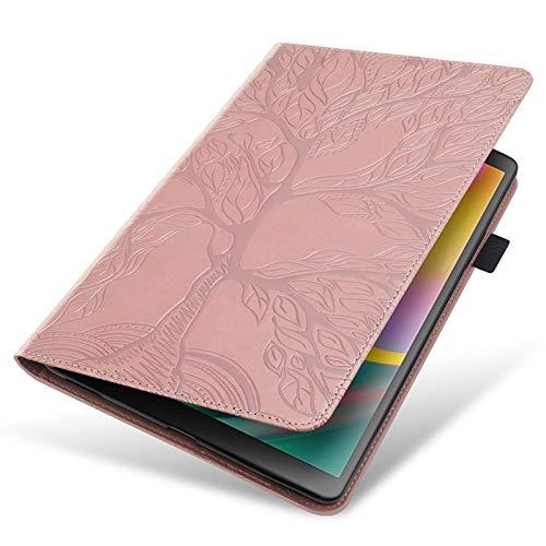 MPWPQ Caja de Tableta de Soporte de Cuero de Lujo de PU para Samsung Galaxy Tab A7 10.4 2020 SM-T500 T500 T505 Cubierta de la Caja de la Vida de la Vida con el Bolsillo de la Tarjeta