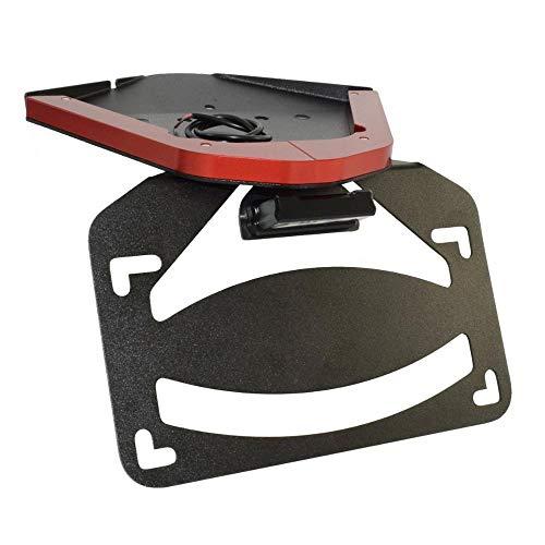 Yllang LED Light Tail Tidy Fender Eliminator License Number Registration Plate Frame Holder Bracket for B-M-W S10-00RR K67 2019 2020 2021 (Color : Red, Size : Free)