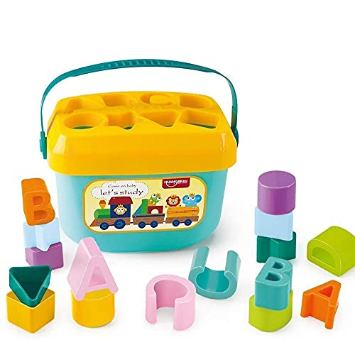 BLASTOOZEE Play Kids Shape Sorter Baby and Toddler Toy, ABC and Shape Pieces, Sorting Shape Game, Developmental Toy for Children's