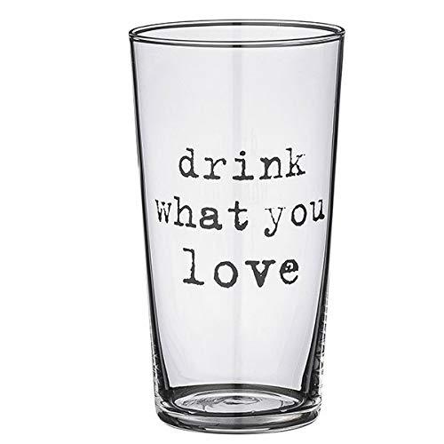 Bloomingville Josephine Drinking Glass, Drink.', Clear/Black ØT6/ØB4,5xH11 cm