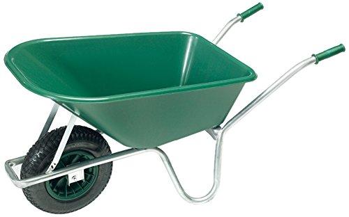 pro-bau-tec Gartenschubkarre 100 L mit PP Kunststoff Mulde, 10089