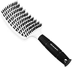 Vent Brush, Vented Hair Brush With Boar Bristles, Curved Detangling Brushes For Women Blow Drying, Suitable For Long, Short,Thick, Thin, Straight, Curly, Fine Hair