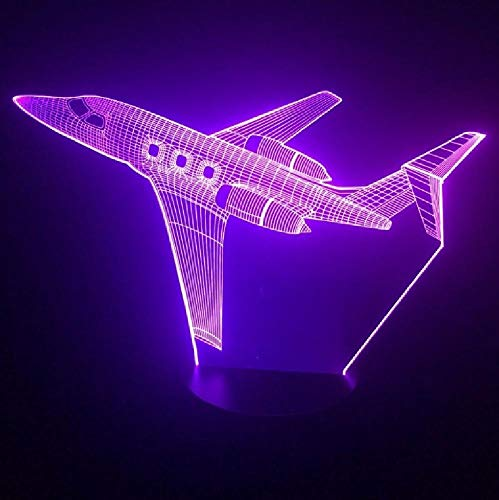 Jet Air Plane 3D Led Lamp 7 Color Change 3D Night Light Baby Bedroom Table Lamp Touch USB Desk Lamp Kids Holiday Gift Home Deco