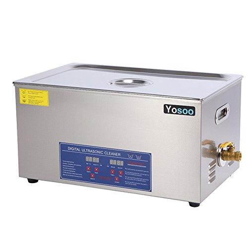 Zerone Ultraljudsrengöring, professionell ultraljudsrengöring för digitalkameror av rostfritt stål, med inställning av uppvärmningstid