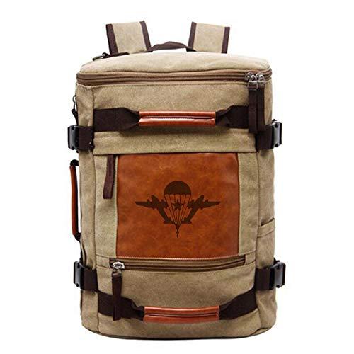 Schulbuchtasche | Vintage Rucksack Male Reisetasche Es gab Keine solche Scheiße mit Mir Versatile-Beutel-Mann-Rucksack, Fallschirmjäger, China