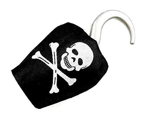 Inception Pro Infinite Ganchillo pirata - Capitn Ganchillo - Calavera y huesos - Nio - Accesorios - Disfraz - Color negro - Idea regalo - Halloween - Carnaval