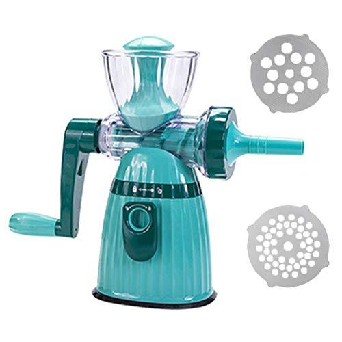 Fleischschleifer Manuelle Rotary Wurst Stuffer Maker Gemüse Fruchtschneider Slicer Shredder Chopper Küchenfleischschleifer Für Zuhause, Küche, Kochwerkzeuge (Color : Blue)