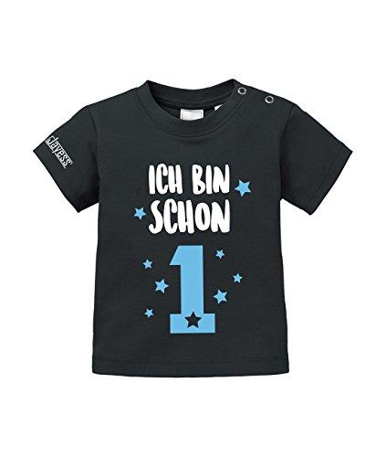 Jayess Geburtstag - Ich Bin Schon 1 - Baby Schwarz - T-Shirt by Baby Gr. 80/86