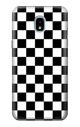 R1611 Checkerboard Chess Board Case Cover for Samsung Galaxy J3 (2018), J3 Star, J3 V 3rd Gen, J3 Orbit, J3 Achieve, Express Prime 3, Amp Prime 3