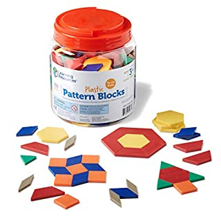 Learning Resources Plastic Pattern Blocks, Math Games for Kindergarten, Homeschool, Shape Recognition, Early Math Skills, Set of 250, Ages 4+ (B00004WKPP) | Amazon price tracker / tracking, Amazon price history charts, Amazon price watches, Amazon price drop alerts