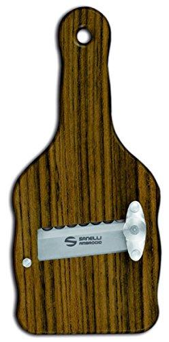Sanelli Ambrogio- Cortador de trufas de Madera de Ovangkol (Guibourtia ehie) con Hoja Ondulada, marrón, 23 x 9x 2.5cm, 1731.000