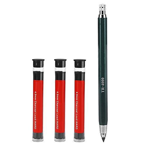 DEWIN Núcleo de lápiz borrable Que Pinta el lápiz automático, núcleo de lápiz de carbón de 4.0 mm para Estudiantes de Arte