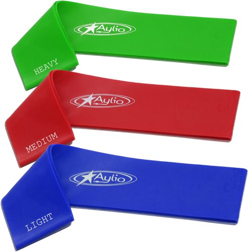 Aylio 3 Loop Fitness Bands Stretch Exercise Set...