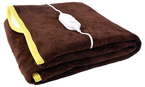 Home Elite 140 TC Polyetser Electric Single Bed Warmer, Brown