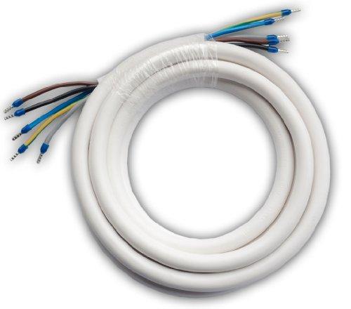 netbote24® Herd-Anschlussleitung | weiß | H05VV-F 5G2,5 | 3~+N+PE| Anschlusslänge 1-50m (8,0m)