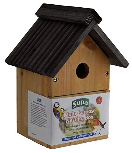 Supa Wild Bird Multi-Purpose Nesting Box   Can Be Either Open Fronted Or A Traditional Nest Box   Suitable For Many Different Species Of Garden Birds