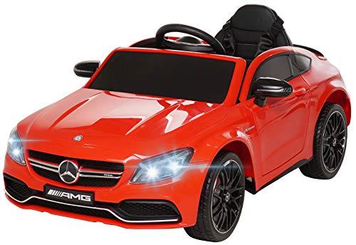 Actionbikes Motors Spielzeug Elektroauto Mercedes Benz C63 - Lizenziert - Ledersitz - Rc Fernbedienung - Elektro Auto für Kinder ab 3 Jahre - Kinderauto (Rot)