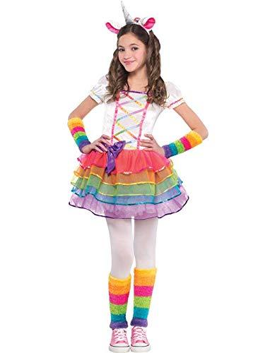 amscan Disfraz de Unicornio arcoíris para niñas con diseño de Hadas