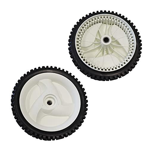 """ZALANA Set of 2 Lawn Mower Front Drive Wheels Replaces Craftsman Husqvarna 532403111 194231x427 194231x460 (8"""" X1-3/4)"""