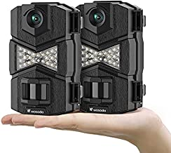 WOSODA 16MP 1080P Trail Camera, with Upgraded 850nm IR LEDs Night Vision 260ft Wildlife Camera, Game Camera for Home Security Wildlife Monitoring/Hunting(2pack)