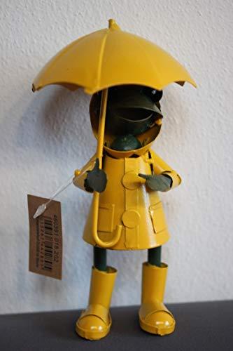 Onbekend II. Keuze kikker/decoratieve kikker, weerkikker in gele regenjas, H 19 cm