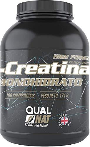 creatina | aumenta la forza e la massa muscolare | supplemento sportivo | migliora la resistenza e il ritorno sportivo | 180 compresse- Qualnat
