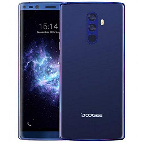 Teléfono Móvil Libres DOOGEE Mix 2, Helio P25 2.5GHz Octa Core 6GB + 64GB, 5.99 '' (1080 * 2160) FHD + Dual SIM Smartphone 4G, 16MP+13MP+8MP+8MP, Carga Rápida Batería 4060mAh, Type-C GPS Azul
