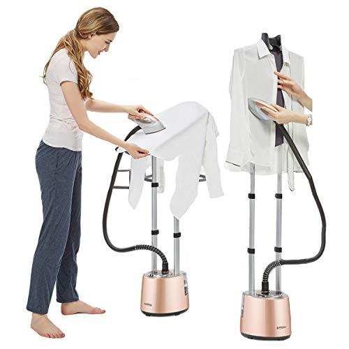 LI Danna Steamer, stoomstrijkijzer voor kleding, hangend stoomstrijkijzer, professioneel hoogpresterende apparaat, 90 ° verticaal/180 ° horizontale 2 strijkmethoden, 2 L, met strijkplank