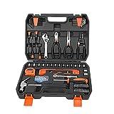 Conjuntos de herramientas de mano Juego de herramientas de reparación de automóviles Conjunto de herramientas mecánicas Caja para el hogar 1/4-pulgada zócalo zócalo conjunto trinquete kit de destornil