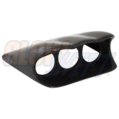 "GlowShift Carbon Fiber Triple Dashboard Gauge Pod for 2002-2007 Subaru Impreza WRX STI - Mounts (3) 2-1/16"" (52mm) Gauges to Vehicle's Dash"