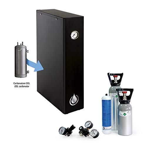 Sprudel aus dem Wasserhahn! Untertisch-Trinkwassersystem - Trinkwassersprudler Untertisch-Sprudelanlage ohne Kühlung Senna Gas Slim - NEUHEIT! inkl. 2-Weg-Zusatzarmatur und Anschluss-Set.