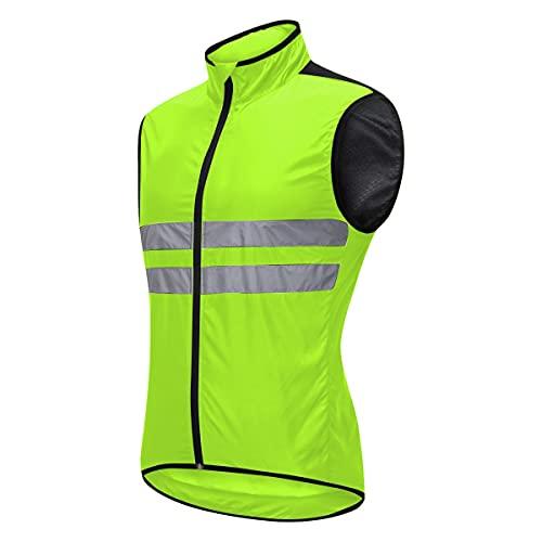 XuuSHA Chaleco de seguridad reflectante de alta visibilid Chaqueta de ciclismo de hombres reflectantes, running montando bicicleta cortavientos Chalecos de seguridad para hombres mujeres