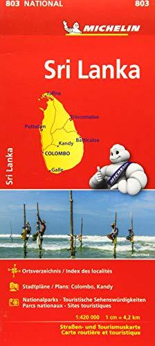 Michelin Sri Lanka: Straßen- und Tourismuskarte 1:500.000 (MICHELIN Nationalkarten)